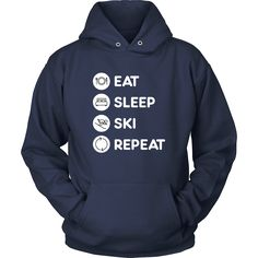 [product_style]-Skiing - Eat Sleep Ski Repeat - Ski Hobby Shirt-Teelime