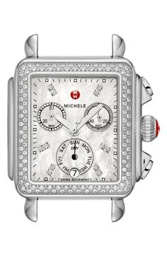 MICHELE Deco Diamond Diamond Dial Watch Case, 33mm x 35mm available at #Nordstrom