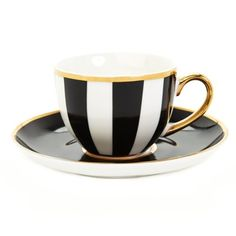blackPaul Costelloe Living Monochrome Espresso Cup and Saucer