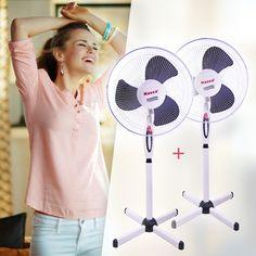 Válassz a három különböző sebességfokozat közül, állítsd a magasságát és a dőlésszögét tetszés szerint, vagy kapcsold oszcilláló (forgó) módba, hogy még nagyobb területen, még többen élvezhessétek a frissítő légmozgást! Home Appliances, Fan, House Appliances, Appliances, Hand Fan, Fans