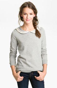 Peter Pan Collar Sweatshirt