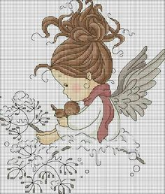48 Ideas for embroidery patterns tree disney Cross Stitch Fairy, Cross Stitch Angels, Cross Stitch For Kids, Cross Stitch Charts, Cross Stitch Designs, Cross Stitch Patterns, Cross Stitching, Cross Stitch Embroidery, Embroidery Patterns