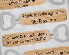 DescriptionStainless Steel Wooden Bottle Opener14cm x 4 cmLaser engraved with your textEngraving available on both sidesSample text:- To have and to hold dear; And to open your BEER!- Stop thinking Scrabble Frame, Wooden Scrabble Tiles, Scrabble Art, Old Wine Bottles, Recycled Wine Bottles, Wine Bottle Crafts, Clay Pot Crafts, Shell Crafts, Personalised Family Tree