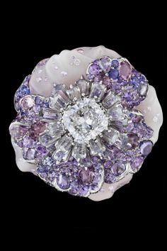 Dior pansy brooch