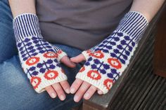 Love the retro feel to these mitts. Ravelry: Bunty Mitts pattern by Ella Austin