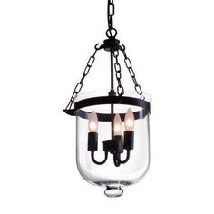 Masterton Distressed Black Ceiling Lamp