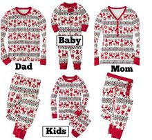 Sleepytime Pjs Family Matching Outfits Christmas Pajamas Mother Daughter Father Son Toddler Pajamas Family Clothing AF-1760(China)