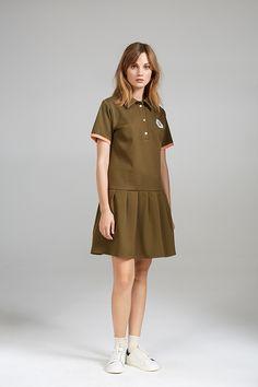 PLEATED TENNIS DRESS Tennis Dress, Women Wear, High Neck Dress, Shirt Dress, Contemporary, Shirts, Collection, Dresses, Fashion