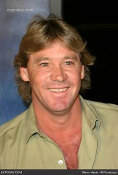 Steve Irwin - The Crocodile Hunter. It was a shock when he died doing what he enjoyed best ... working with animals.