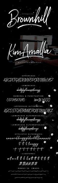 Brownhill Script Free Font #freebies #freefonts #branding #typeface #typography #scriptfonts #brushfonts #handwrittenfonts