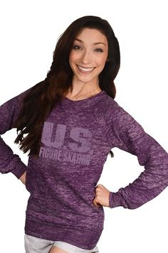 Figure skating apparel - Burnout crewneck sweatshirt