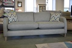 Living : NEWTON 3 Seater Sofa in Spearmint Fabric