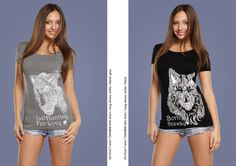 #handmade #shirt #cute #panther #wolf #love #girl #black #white #decor #Russia #picture #pen #ink #inkart #print #art #print #design #mypics #tatoo #style juliagrad.tumblr....