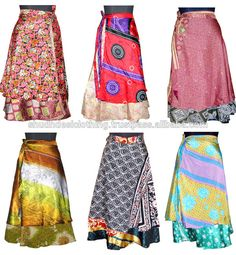 Source Buy Silk Sari Wrap Skirts and Dresses from India on m.alibaba.com