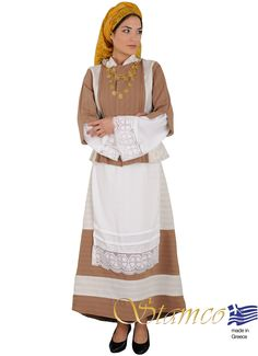 Greek costumes for women, Greek traditional costume aegean Islands,cyclades… Samos, Dance Costumes, Greek Costumes, Greek Traditional Dress, Imperial Fashion, Island Girl, Folk Costume, Costume Accessories, Costumes For Women
