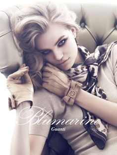 Milou Sluis in ad campaign for Blumarine. #fashion #model #ad