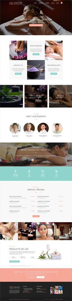 Jacqueline is a wonderful 3in1 responsive #HTML template for spa, #beauty, hair or #makeup #salon, wellness center or massage services websites download now➩  https://themeforest.net/item/jacqueline-spa-massage-salon-site-template/19330375?ref=Datasata