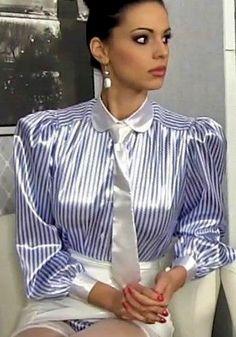 c13f82bac5432 Bunte Kleider, Lack Und Leder, Elegante Blusen, Bluse Und Rock, Anziehen,