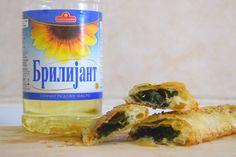 posen maznik so spanak 3 Serbian, Water Bottle, Food, Essen, Serbian Language, Water Bottles, Meals, Yemek, Eten