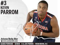 University of Arizona Wildcats basketball guard/forward Kevin Parrom (www.azstarnet.com, Nov. 11, 2012)