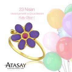 23 Nisan Ulusal Egemenlik ve Çocuk Bayramı Kutlu Olsun! #23nisan #bayram #cocuk #balon #yüzük #ring #flower #çiçek #atasay #kids