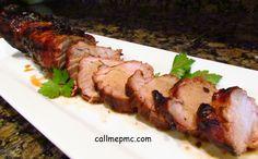 Call Me PMc: Molasses Glazed Pork Tenderloin #recipes #pork