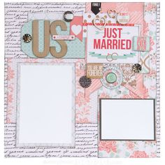 #Scrapbook layout made with Teresa Collins Save the Date | Mid Week Mojo Rose #1 #scrapbookSTEALS #scrapbook #layout #crafts #diy