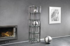 Acquario tavolino #showcase #design by Lestrocasa Firenze #interiordesign #home #steel #modern #glass #Lestrocasa