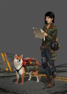 Post Apocalyptic Japanese Girl by GloriousRyan on DeviantArt Zombie Survivor, Apocalypse Survivor, Apocalypse World, Apocalypse Art, Cyberpunk Girl, Arte Cyberpunk, Character Concept, Character Art, Concept Art