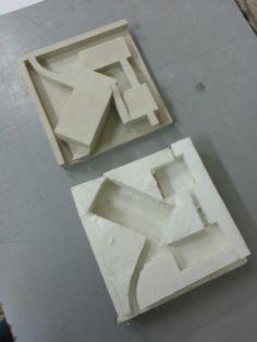 Anime / yeso. Composición arquitectónica.