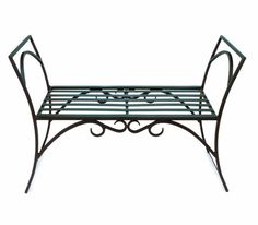 backless wrought iron bench - Bing Images
