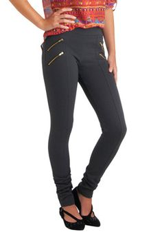 Dressage to Impress Leggings in Charcoal, #ModCloth