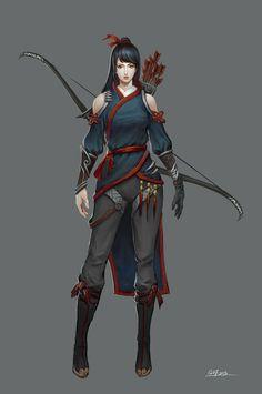 Female archer, Danfeng Ge on ArtStation at https://www.artstation.com/artwork/female-archer-9df2dd39-9780-45ee-8c41-fd9231dde895