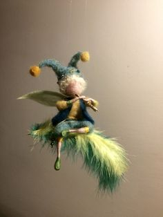 Needle felted elf, Waldorf inspired, Boy elf, Fairy, Wool elf, Children room, Hanger, Gift, Needle felted fairy by DreamsLab3 on Etsy https://www.etsy.com/listing/516280257/needle-felted-elf-waldorf-inspired-boy