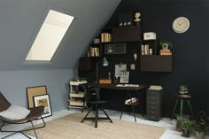 home office design Student Room, Student House, Ikea Home, Diy Interior, Spare Room, Home Office Design, New Room, Home And Living, Bedroom Decor