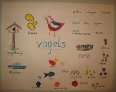beeldwoordenweb. Kan door de leerkracht gemaakt worden, maar ook door de kinderen. Winter Project, Mood Boards, Classroom, Vocabulary, Education, Learning, Beautiful, Teacher, Bird Theme