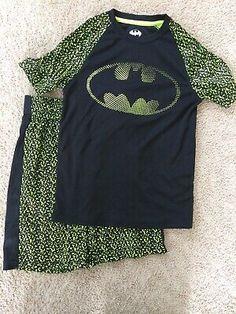 Wonder Nation Boys 2 Piece Pajama Set Large 10//12, Green Raptor