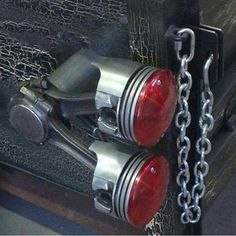 Cool idea for truck lights - Rat Rod. Cool Trucks, Cool Cars, Hot Rod Trucks, Automotive Decor, Metal Projects, Tail Light, Chevy Trucks, Custom Cars, Custom Rat Rods