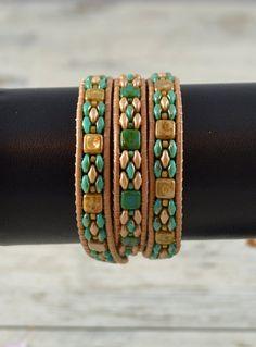 Leather Cord Bracelets, Bead Loom Bracelets, Beaded Wrap Bracelets, Leather Jewelry, Beaded Jewelry, Diamond Bracelets, Pandora Bracelets, Diamond Rings, Diy Jewelry