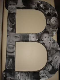 DIY Modge Podge Photo Letter. LOOOOVE THIS IDEA!! Fill up letters for Kloie's whole name as she grows!!