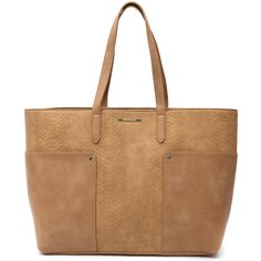 Tony Bianco Claridges Camel Tote ($75) ❤ liked on Polyvore featuring bags, handbags, tote bags, handbags totes, beige tote, tote handbags, tote purses and camel purse