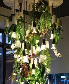 "14) Hanging Plant Lights: <a href=""http://scraphacker.com/diy-upside-down-planters/"">Full Instructions</a>"