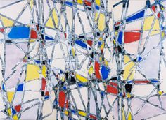 Abstract Paintings at Boogie Woogie, Piet Mondrian, Art Clipart, Paint Shop, Textile Patterns, Pattern Wallpaper, Victorious, Yellow, Blue