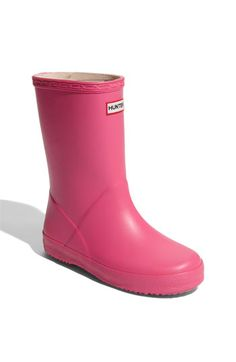 Hunter 'Kid's First' Rain Boot (Walker, Toddler & Little Kid) available at #Nordstrom
