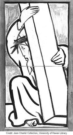 Jean Charlot, Chemin de croix, station 7, ARCHIVES OF HAWAI'I ART |