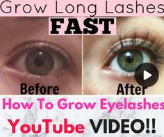 HOW TO GROW EYELASHES FAST YOUTUBE VIDEO!!! A Fast-Acting DIY Eyelash Growth Serum Formula Recipe and Tutorial!!