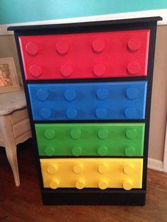 Boys lego dresser i made ! - My Own Designs - Lego Lego Bedroom, Bedroom Themes, Bedroom Ideas, Bedroom Boys, Kid Bedrooms, Design Bedroom, Bedroom Decor, Bed Design, Master Bedroom