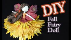This DIY sunflower fairy doll tutorial is a great way to learn how to make a fairy doll. These are also called peg dolls or flower fairy dolls. Diy Fairy Wings, Diy Wings, Barbie Fairy, Fairy Dolls, Fairy Crafts, Dyi Crafts, Flower Fairies, Fairies Garden, Flower Petals