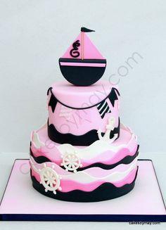 girl nautical cake | Girly Nautical Theme Cake - by CakesbyMaylene @ CakesDecor.com - cake ...