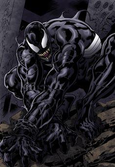 Bryan Hitch, Venom, Detailed Image, Spiderman, Comic Books, Darth Vader, Marvel, Deviantart, Color